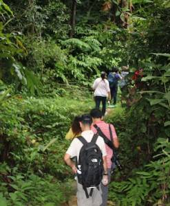 Hiking up. Chaeson National Park trekking.