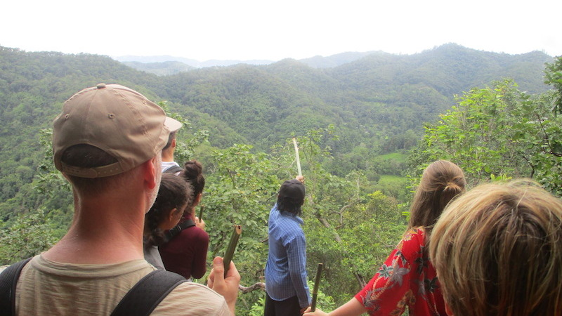 Family group watching the view Tribal Trekking