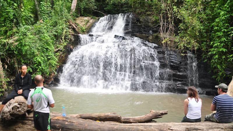Nice waterfall in the Mae Wang area