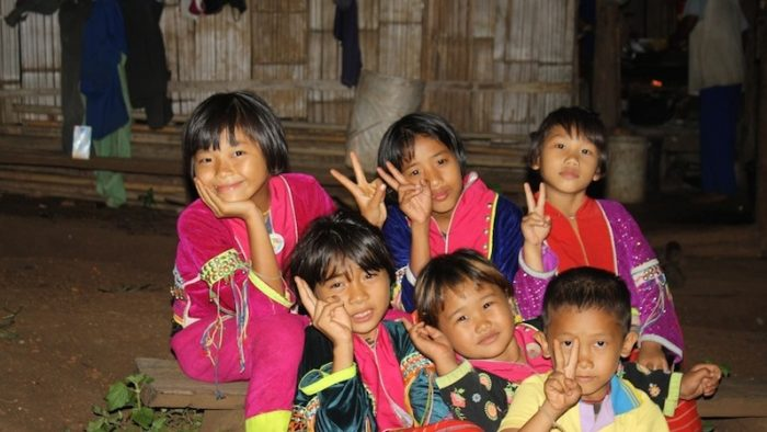 Kids from the Palong minority Hilltribes