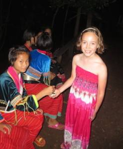 Chiang Dao Children meeting during Family Trekking Adventure