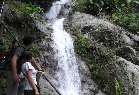 Chaeson National Park trekking. Mae Kampong Waterfall.