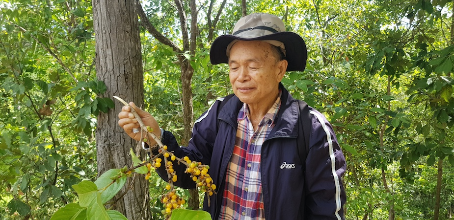 Guide Pornchai with unknown fruit