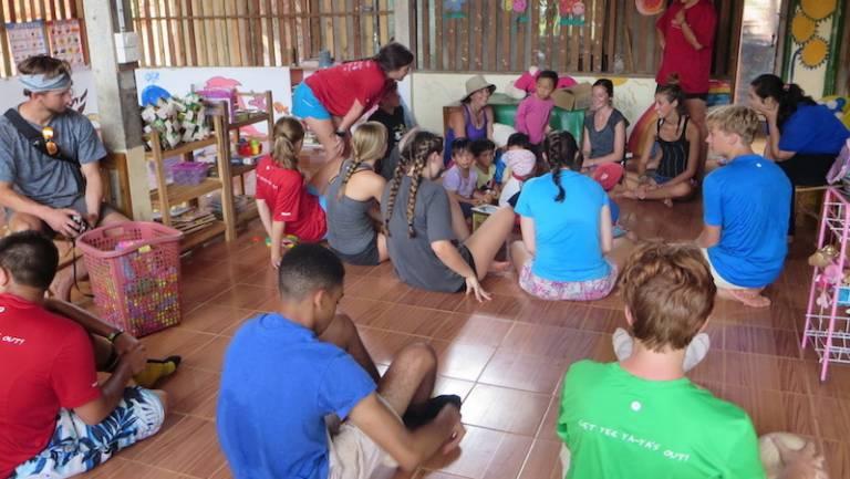 students visit school