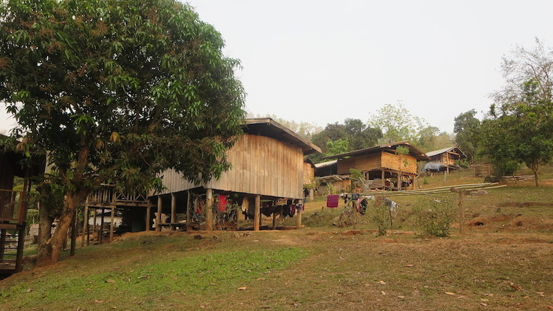 House in a hilltribe village