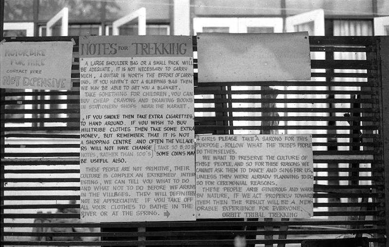 Trekking information on a wall