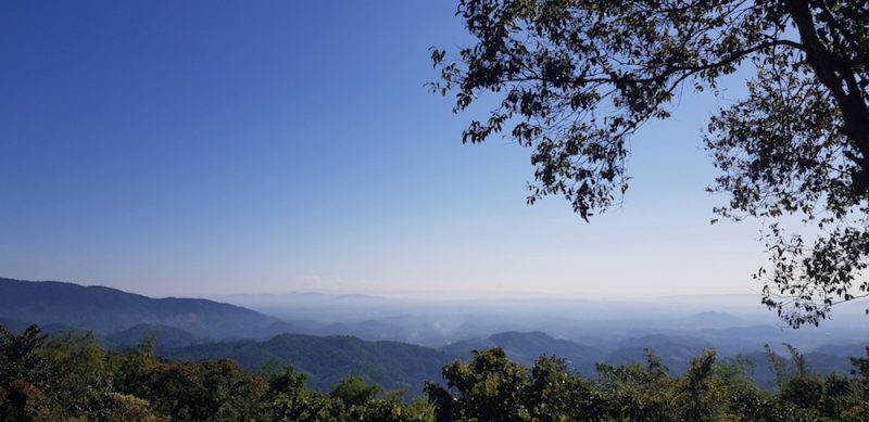 Chiang Rai trekking to Doi Bo viewpoint along the way