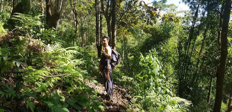 Guide Amoe during the Chiang Rai Trek Doi Bo