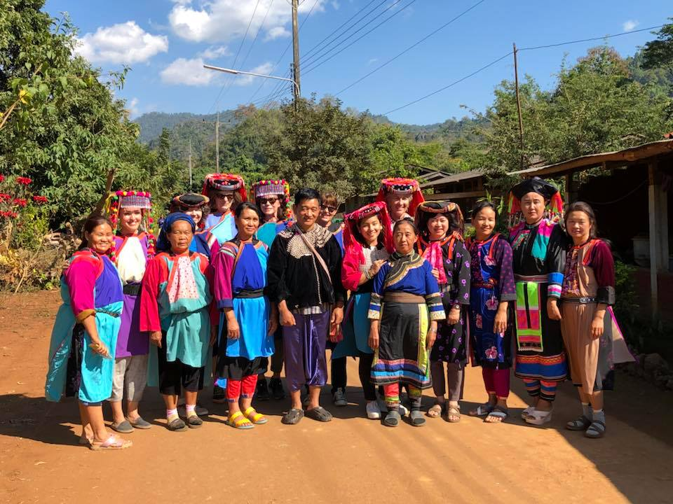 Textile group at Lisu village