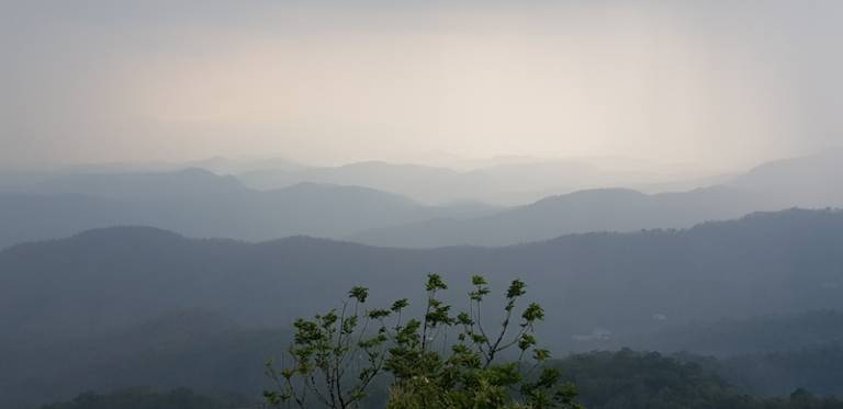 View from Doi Pui Calm before the storm Hmong Trekking best Doi Suthep trail