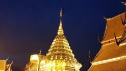 Wat Doi Suthep golden chedi at night Doi Suthep Adventure