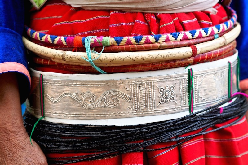 Belt detail of Palong people Palong Hill Tribe