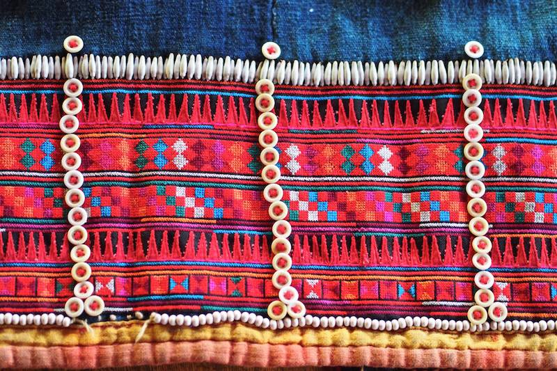 Details of Akha textiles