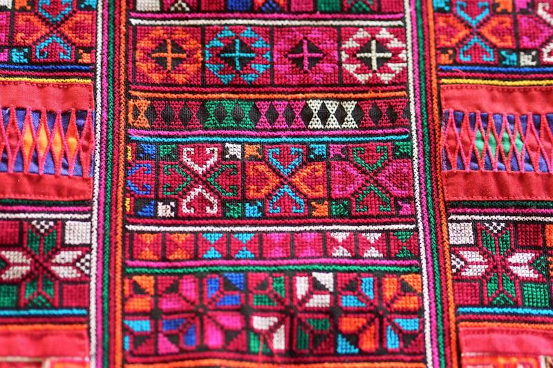 Details of Akha embroidery