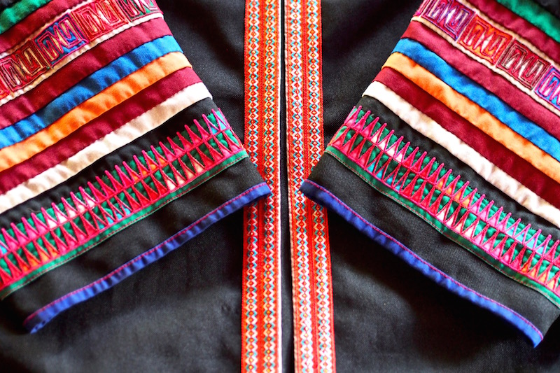 sleeves of an Akha Jacket