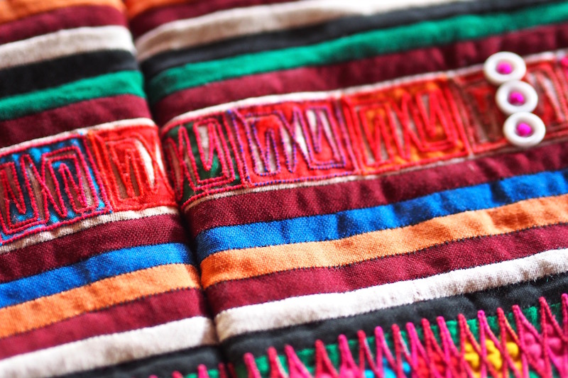Detail of leg wrap of Akha people