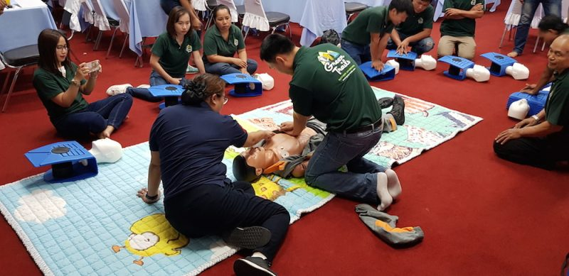 Staff and guides during First Aid McCormick