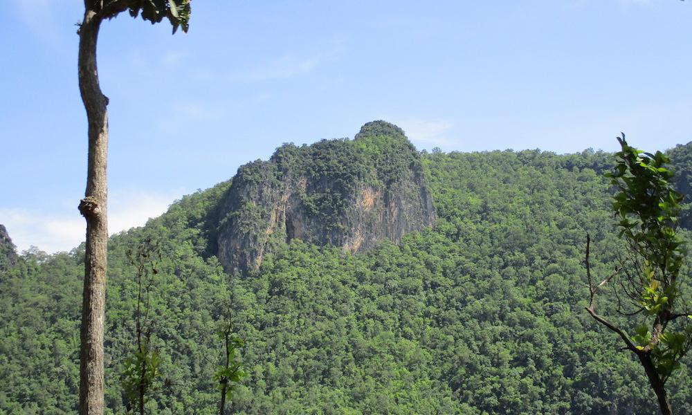 Limestone mountains Chiang Dao