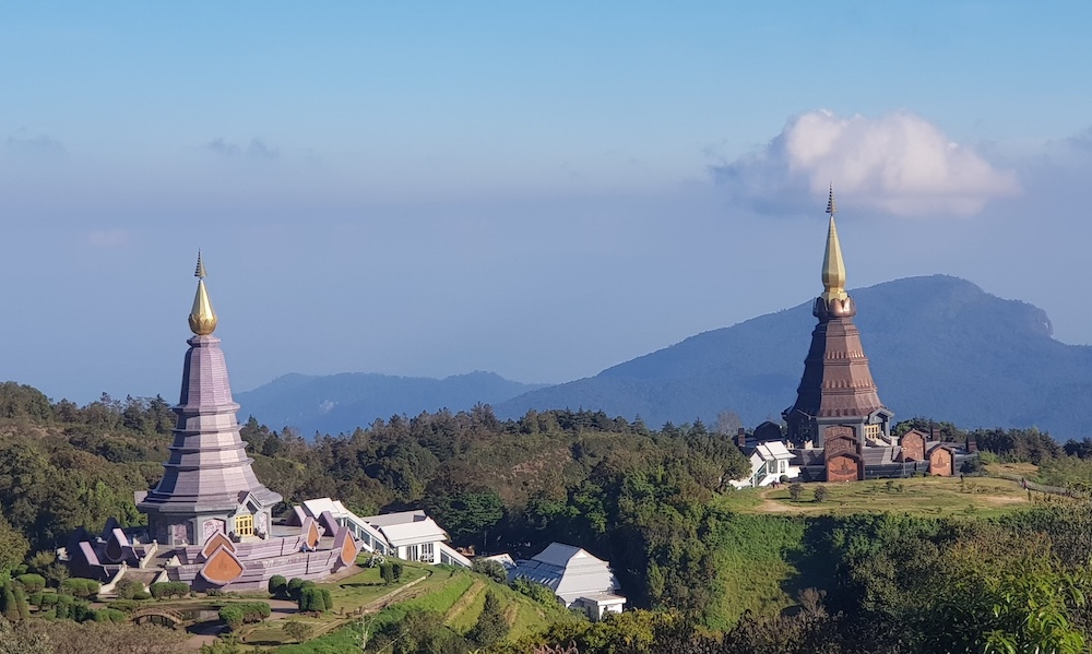 two Chedis for the King and Queen Doi Inthanon