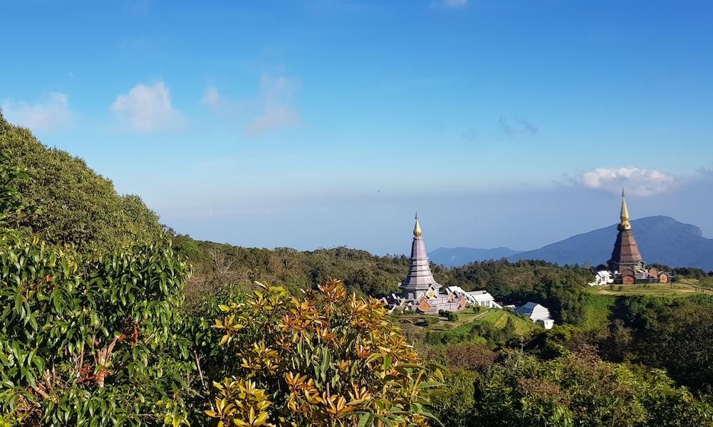 View on Royal Chedis at Doi Inthanon
