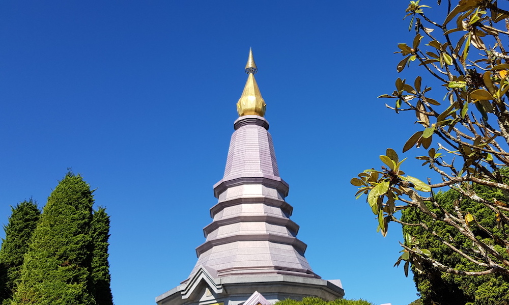 Doi Inthanon Royal Chedi with vegetation
