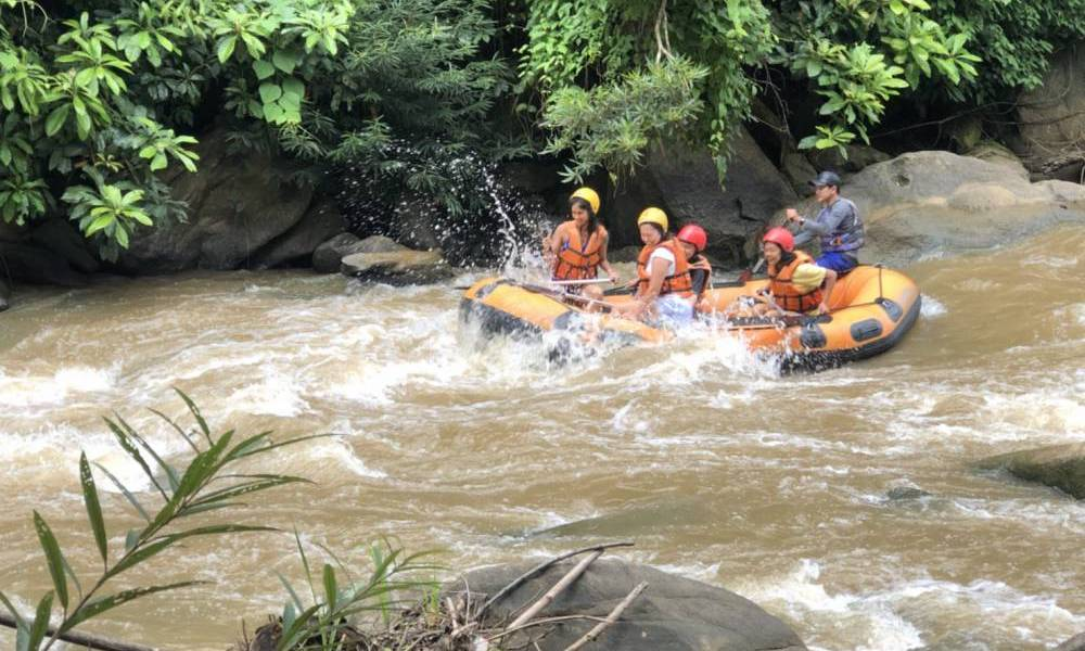 Rubber boat Whitewater rafting