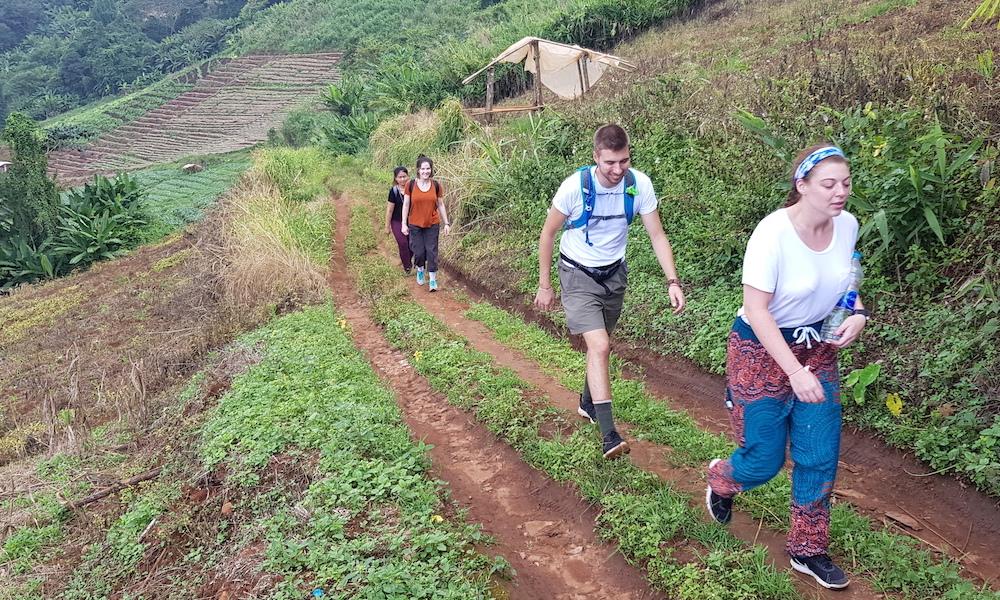 Trekking from Hmong village Ban Mae Sa Mai