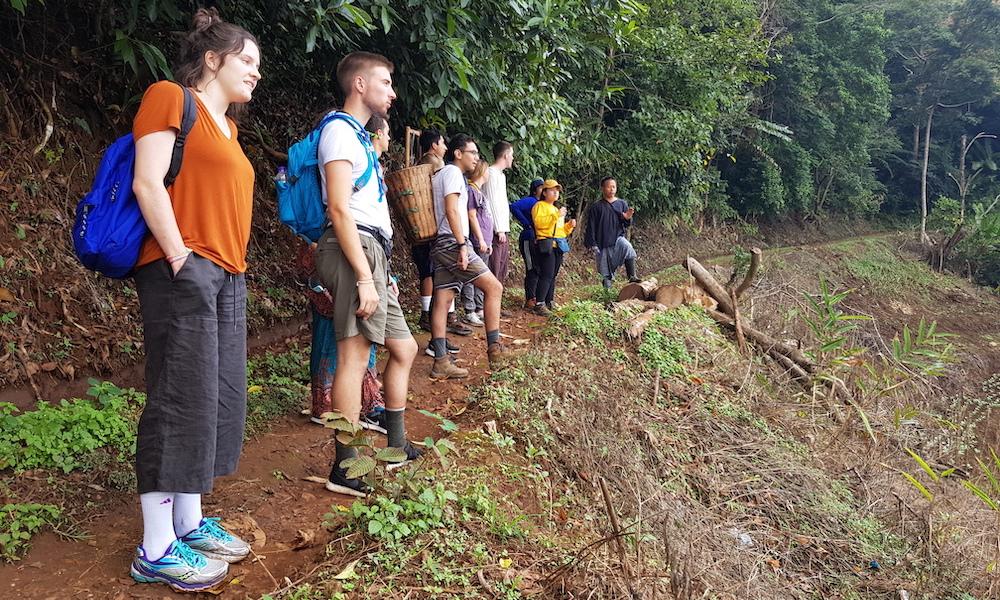 Hmong guide explains for tourists Hmong Village Ban Mae Sa Mai