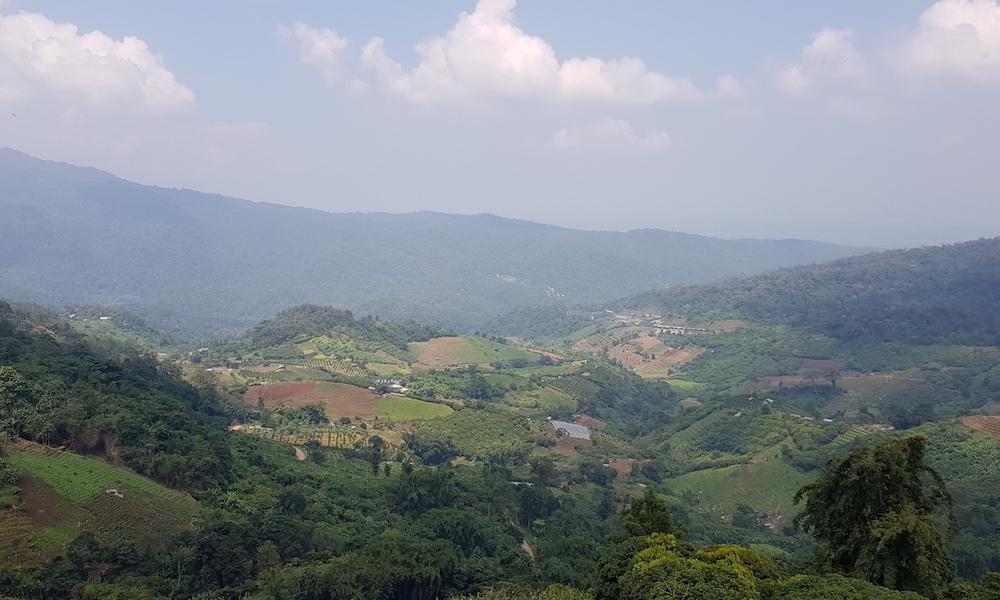 View over fields Hmong Village Ban Mae Sa Mai