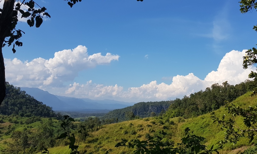View over the mountains of Chiang Dao