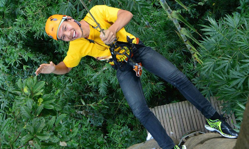 Happy tourist Chiang Mai Zipline