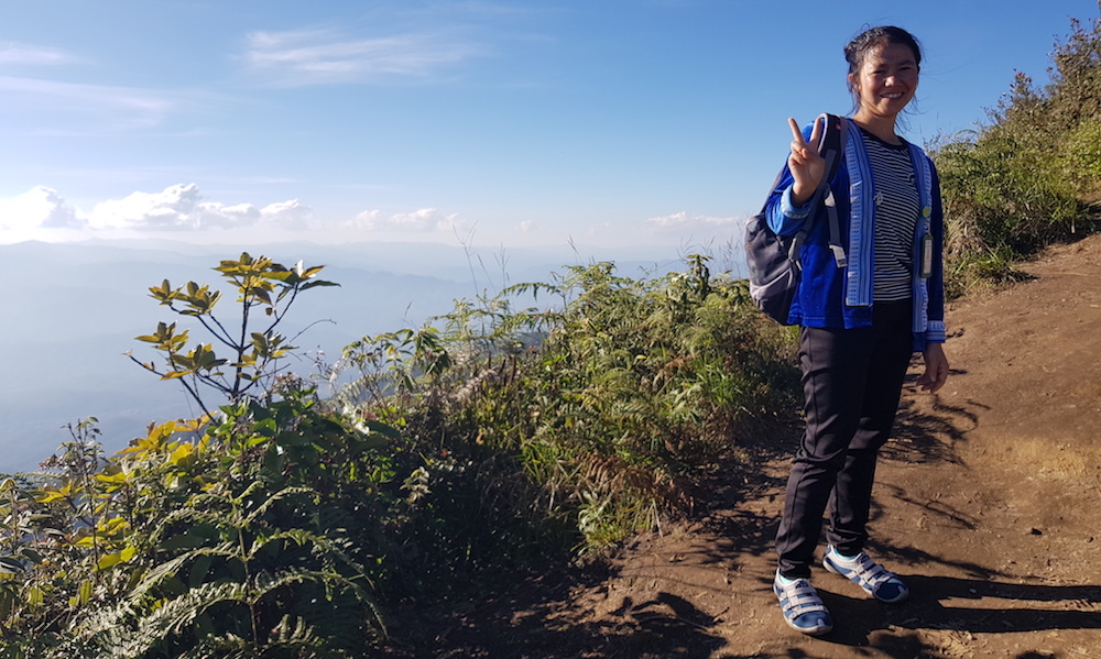 Local Hmong guide at Doi Inthanon Doi Inthanon waterfalls