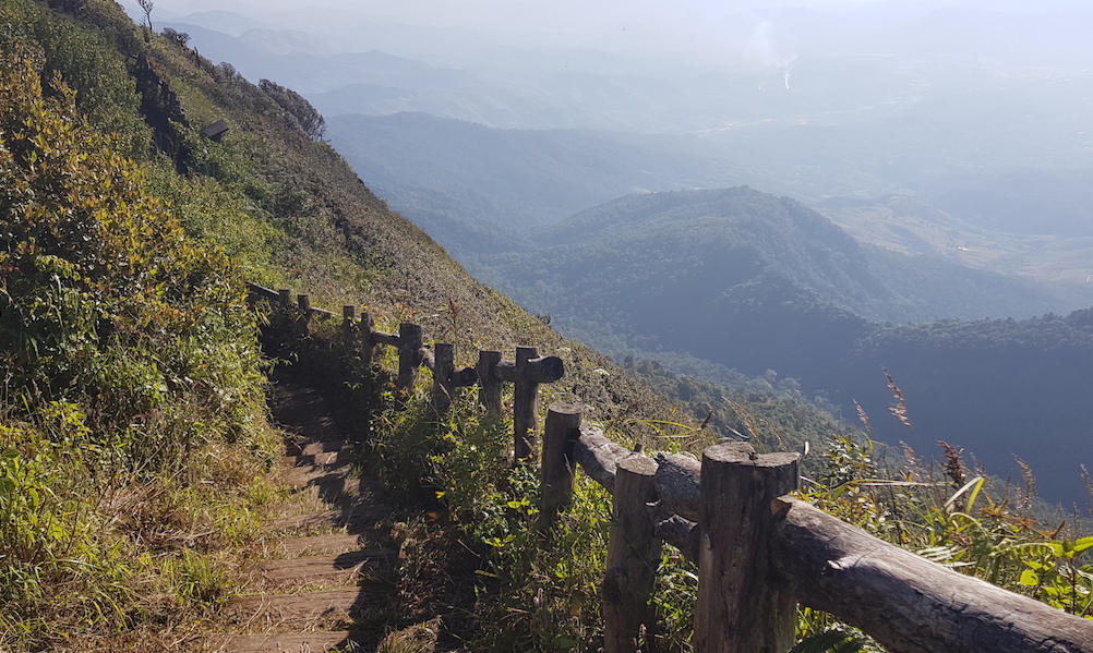 Mountain trail with beautiful view