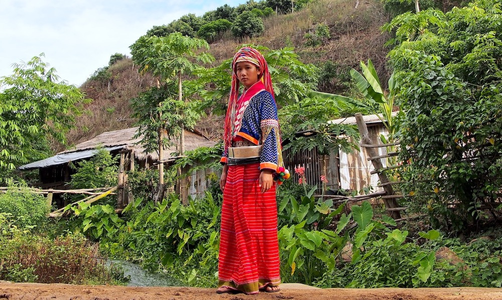 Chiang Dao Palong girl in full dress