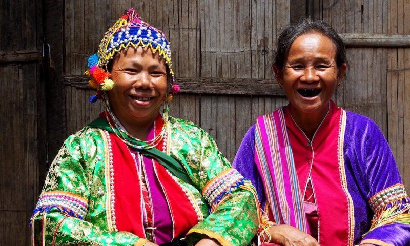 Two Palong women Chiang Dao Palong Hill Tribe