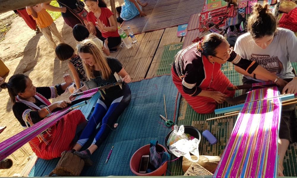 Guest trying weaving Palong