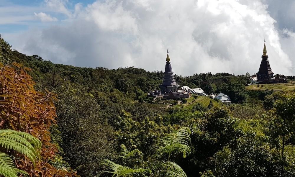 Doi Inthanon view on Royal Chedis