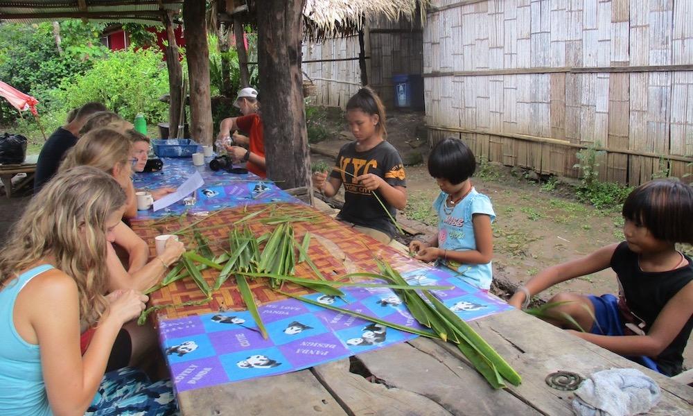 Family trekking children activity Chiang Dao