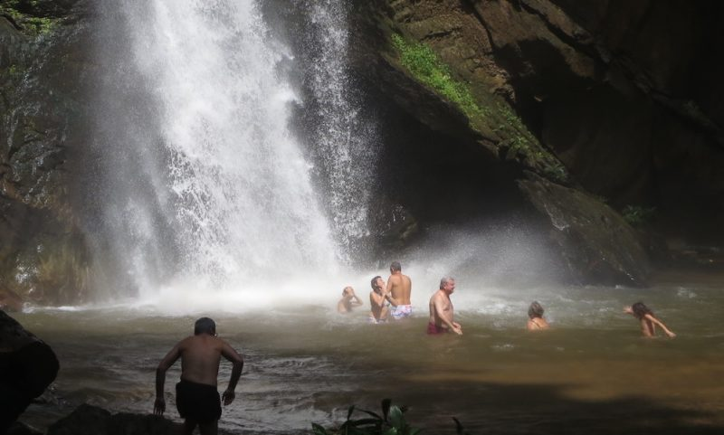 Tourists at Mork Fah Waterfall Doi Suthep-Pui National Park