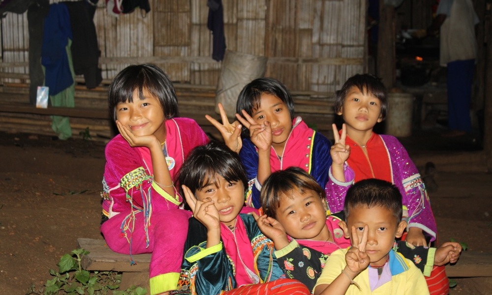 Six Palong Children Chiang Dao