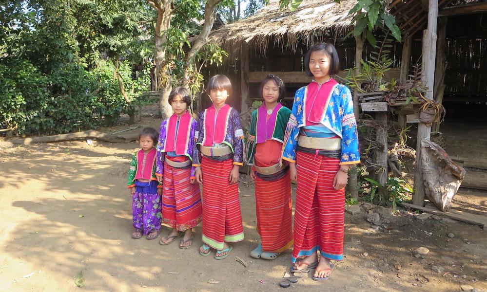 Five Palong children