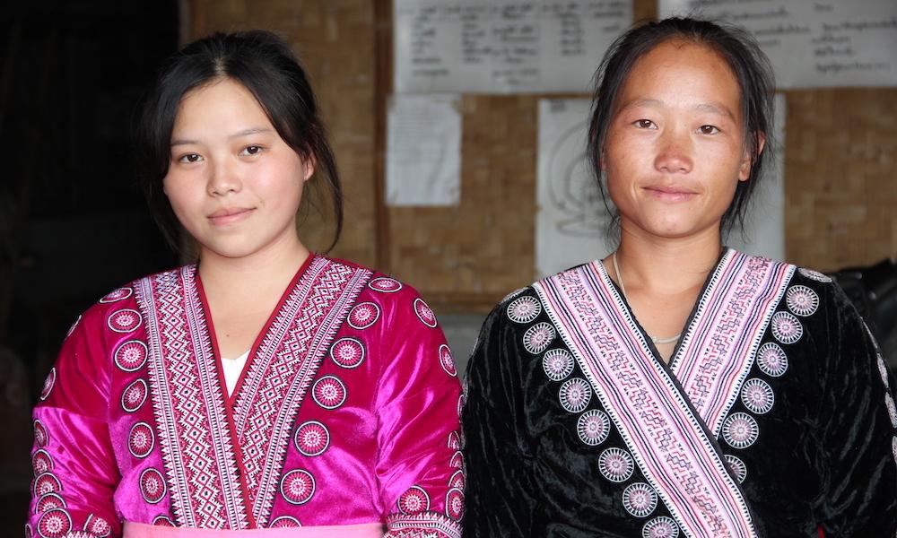 Hmong hill tribe women