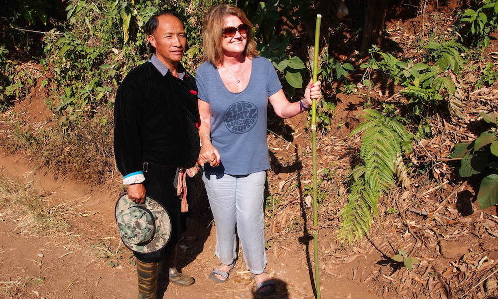 Sowmee and Jenny during trek Opium Trail