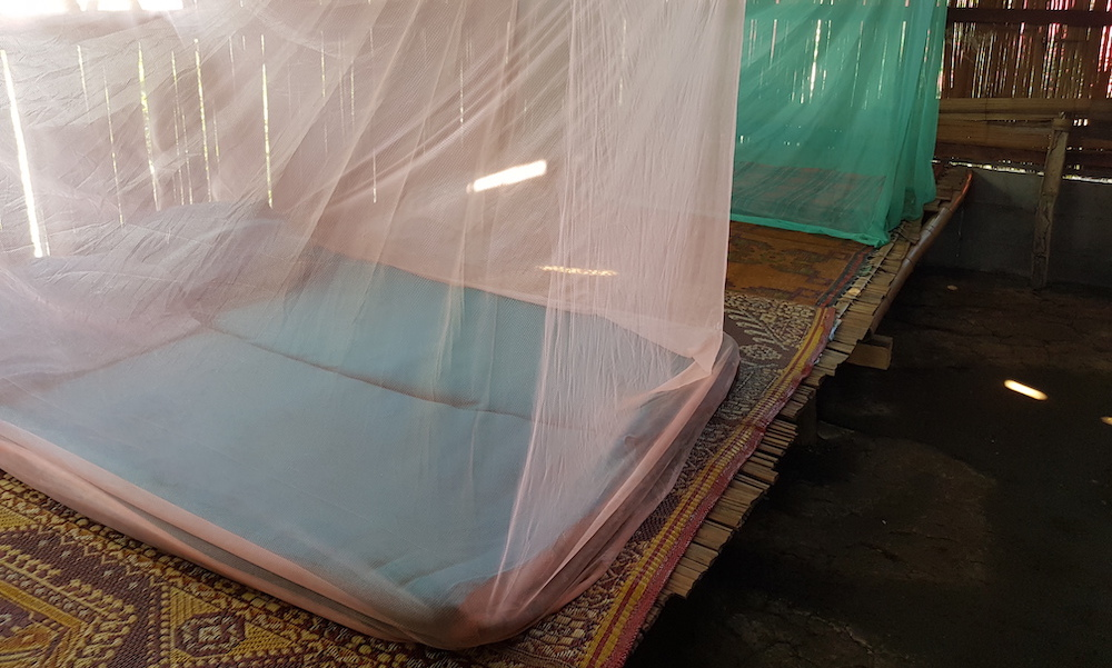 Lung Boon house mattress with mosquito net Chiang Dao