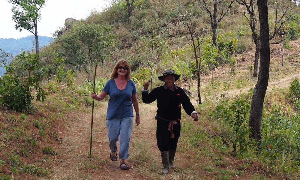 Sowmee and Jenny having fun opium trails