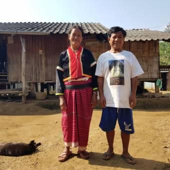 Palong couple Ya ma and Lung Boon Chiang Dao