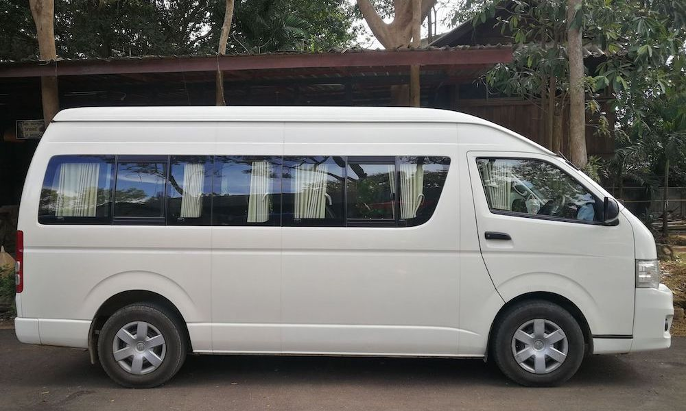 Green Trails Airconditioned van with safety belts