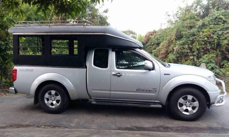 Songtaew traditional trekking truck Chiang Mai Green Trails transportation