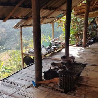 Homestay Nongjao open kitchen Huay Khao Lip