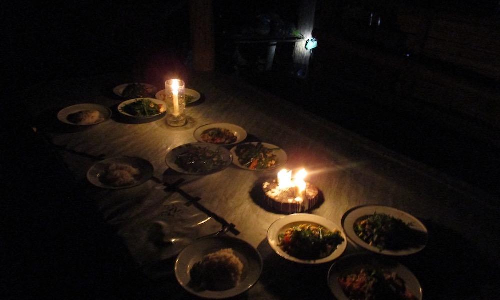 Dinner at homestay Mae Wang